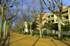Calella grodzki deptak, Hiszpania fotografia royalty free