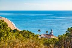 Calella-Leuchtturm Lizenzfreies Stockfoto