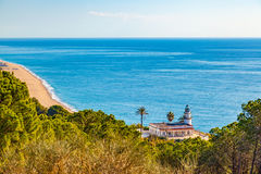Calella lighthouse Royalty Free Stock Photo