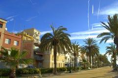 Calella resort town promenade,Spain Stock Photos