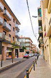 Street of Calella on September 16, 2012. Calella accommodates an Stock Image