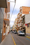 Street of Calella on September 16, 2012. Calella accommodates an Royalty Free Stock Photography