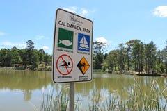 Calembeen公园是一种遗产列出的消遣储备在Creswick,普遍为渔,航行和一般休闲 免版税图库摄影