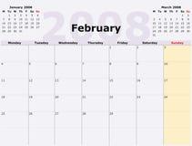 calen星期一月度星期天 库存图片