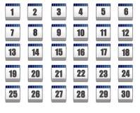 Calendário (ícones do Web) Fotos de Stock Royalty Free