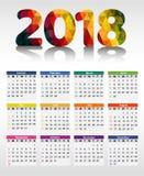 Calendário 2018 Foto de Stock
