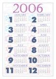 Calendário 2006 Fotografia de Stock