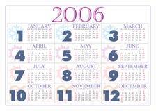 Calendário 2006 Imagens de Stock Royalty Free