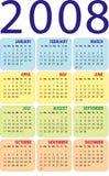 Calendário 2008 Imagem de Stock Royalty Free