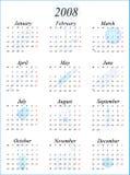 Calendário 2008 Fotos de Stock