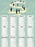 Calendário 2008 Imagens de Stock Royalty Free