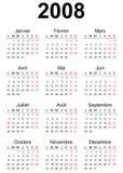 calendário 2008 Fotografia de Stock