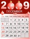 Calendário 2009 Foto de Stock Royalty Free