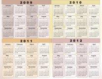 Calendário 2009 Foto de Stock