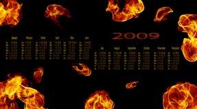 Calendário 2009 Imagens de Stock