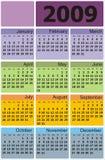 Calendário 2009 de Ñolorful do vetor Fotos de Stock