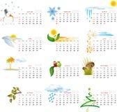 Calendário 2010 ilustração royalty free
