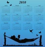 calendário 2010 ilustração stock