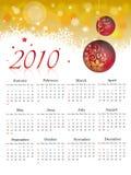 Calendário 2010 Foto de Stock Royalty Free