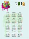 Calendário 2010 Imagem de Stock Royalty Free