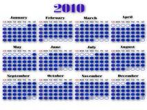 Calendário 2010 anos Imagens de Stock