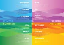 Calendário 2010 da estação Foto de Stock