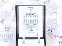 Calendário 2010 de mesa Imagem de Stock