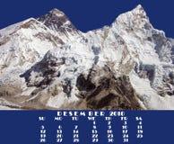 Calendário 2010. Dezembro. Everest e Nupse Imagem de Stock Royalty Free