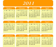 Calendário 2011 Imagem de Stock