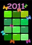 calendário 2011 Fotografia de Stock Royalty Free