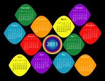 Calendário 2011 colorido Foto de Stock