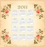 Calendário 2011 do vintage ilustração royalty free