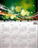 calendário 2011 para o Natal ilustração royalty free
