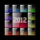 Calendário 2012 ilustração stock