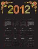 Calendário 2012 Imagem de Stock
