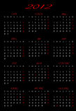 Calendário 2012 com projeto Fotos de Stock Royalty Free