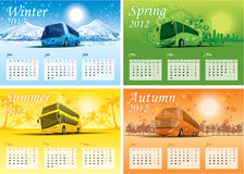 Calendário 2012 de quatro estações Fotografia de Stock