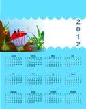 Calendário 2012 para crianças Fotografia de Stock