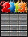 Calendário 2013 Foto de Stock Royalty Free