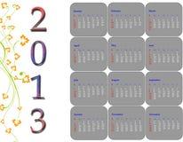 calendário 2013 Fotografia de Stock