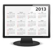 Calendário 2013 ilustração royalty free