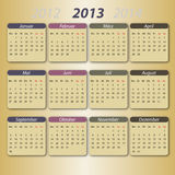 Calendário 2013, deutsch Fotografia de Stock