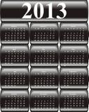 Calendário 2013 do vetor Imagens de Stock