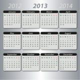 Calendário 2013, inglês Imagem de Stock