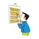 Calendário ilustração royalty free