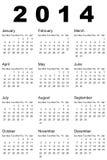Calendário 2014 Fotos de Stock Royalty Free