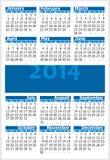 Calendário 2014 Imagens de Stock Royalty Free