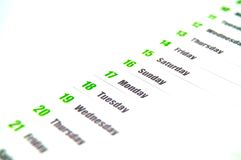 Calendário Imagens de Stock Royalty Free