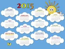 Calendário 2015 Imagens de Stock Royalty Free