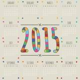 Calendário 2015 Fotos de Stock